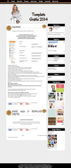 TEMPLATE FEMININO GRÁTIS VERSÃO 3 - Cantinho do blog Layouts e Templates para Blogger