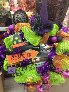 Halloween wreath by Renee