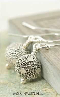 Dotted Bali earrings    http://southpawonline.com/collections/sterling-silver-bali-collection/products/bali-earrings-dotted-dangles