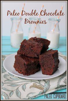Gluten-Free Double Chocolate Brownie Recipe - Paleo Cupboard www.paleocupboard.com