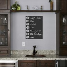 Days of The Week Chalkboard Wall Decal