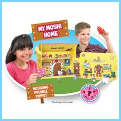 Moshi Monsters My Moshi Home. Guaranteed that your children can have a great time creating and decorating My Moshi House with 20 different accessories included in the set.
