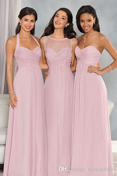 75d7de995b8e 2017 New Beach Long Bridesmaid Dresses Sweetheart Jewel Neck Illusion Chiffon  Light Purple Plus Size Maid of Honor Bridal Wedding Party Gown