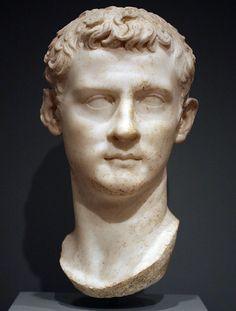 Portrait of Caligula. Worcester (Massachusetts), Art Museum and School. Photo by Roger B. Ancient Rome, Ancient Art, Ancient Greek, Marble Bust, Rome Antique, Roman Sculpture, Modern Sculpture, Art Rules, Classical Antiquity