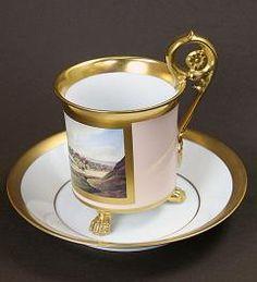 Pictured Teacup Fürstenberg**