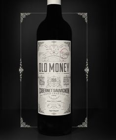 Old, ornate and probably really expensive | Old Money Cabernet Sauvignon by Vinomofo | The Dieline |