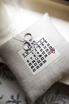 Love idea for ring cushion for the big day!