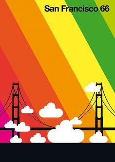 Bo Lundberg | San Francisco 66 ✭ graphic design poster
