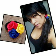 Ponytail! Ponytail, Drop Earrings, Roses, Jewelry, Colombian Flag, Accessories, Jewlery, Pink, Jewerly