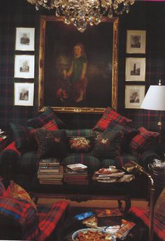 Ralph Lauren Home plaid for game room - Fine Living - Traditional Style - Ralph Lauren