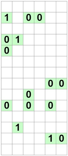 Number Logic Puzzles: 24165 - Binary size 3