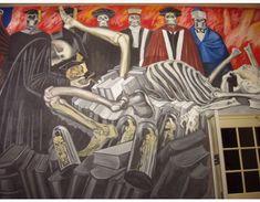 José Clemente Orozco. 1932-1934. El propósito de este mural era crear una nueva identidad nacional mexicana tras la Revolución para fines políticos.