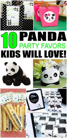 faa08ae9d6 Kids birthday party favors! Panda party favor ideas for your boys or girls  bday.