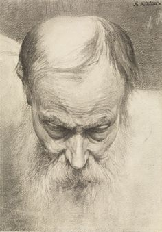 Mannshode sett ovenfra - Theodor Kittelsen (Mans head seen from above) Theodore Kittelsen, A4 Poster, Poster Prints, Sketch Head, Most Popular Artists, Sketching Techniques, Art Drawings Sketches, Pencil Drawings, The Draw