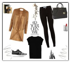 """""""Im a caramel"""" by sarapires ❤ liked on Polyvore featuring River Island, Isabel Marant, NIKE, Michael Kors, Diane Kordas, Cynthia Rowley, Lancôme and Chanel"""