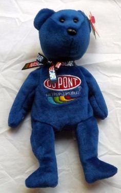Ty Beanie Baby Jeff Gordon Bear NASCAR #24 Dupont Motorsports NWT Shipping FREE