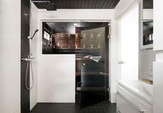 Tyylikkyyttä saunatilaan modernilla lasiovella. Katso kuva, niin näet tarkemmat tuotetiedot.