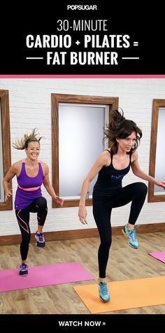 Calorie-Torching Pilates Workout - when you combine pilates, hand weights, and cardio, you get a wicked workout.
