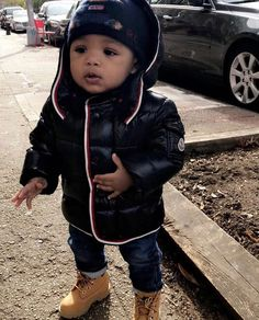 By far the most delightful looking for child boy outfit, see all the necessities like pajamas, entire body lawsuits, bibs, and more. Black Baby Boys, Cute Black Babies, Beautiful Black Babies, Baby Boy Swag, Kid Swag, Cute Baby Boy, Toddler Boy Outfits, Toddler Boys, Baby Kids