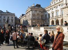 #SomersetHouse is one of the sites of #LondonFashionWeek. #London #UK #Travel #Fashion // © 2015 TravelAge West/Melissa Karlin