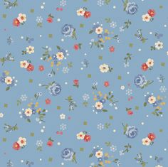Bandana Florals by Dover Hill Studio - Gail - Blue