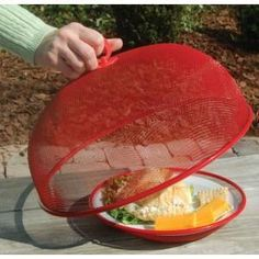 Mesh Food Cover -  Protect foods from bugs at picnics, cookouts and tailgating.