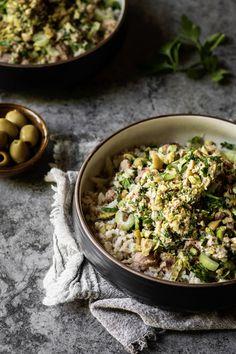 Bol de riz au thon, olives et lime - K pour Katrine