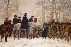 """""""The March to Valley Forge,"""" December 16, 1777 by William B. T. Trego. Current location: American Revolution Center"""