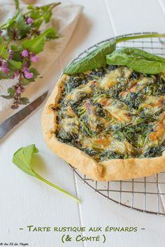 Rustic spinach and Comté tart - Au Fil du Thym - Rustic spinach and Comté pie - Easy Smoothie Recipes, Easy Smoothies, Easy Salads, Good Healthy Recipes, Healthy Salad Recipes, Healthy Snacks, Vegetarian Recipes, Easy Meals, Ricotta