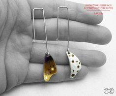 Bilateral long earrings -  silver/enamel  nr3 Marta Rudnicka