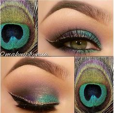 I dont like to wear a lot of makeup, but I LOVE peacock feathers. And this is adorable.