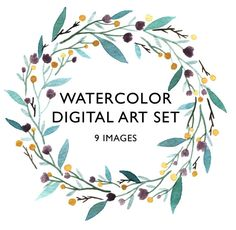 Watercolor Digital Art Set Clip art flowers от BethanyEdenArt