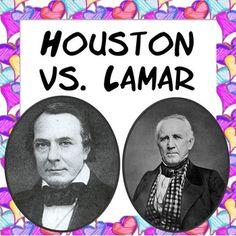 """In this activity students will research Sam Houston and Mirabeau B. Lamar during their tenure as presidents of Texas. (Graphic Organizer provided) The students will then share their information on the events that shaped the Republic of Texas by participating in a """"debate"""" between Sam Houston and Mirabeau B. Lamar"""