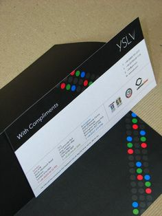 YSLV Sound and Video Hire with compliments slip Compliment Slip, College Courses, Business Branding, Visual Identity, Compliments, Stationary, Letters, Graphic Design, Cards