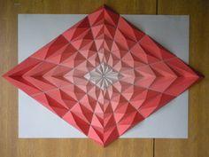 Diamond Mosaice - paper origami mosaics by Kota Hiratsuka