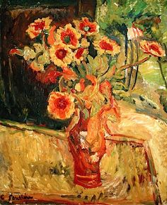 ❀ Blooming Brushwork ❀ garden and still life flower paintings - Flowers Chaim Soutine