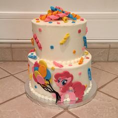 Pinkie pie my little pony cake by Amber's Little Cupcakery
