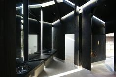 daigo ishii future scape architects house of toilet designboom interior spaces feature a stark contrast between dark surfaces and illuminated slit windows
