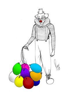 Clowns by Dirty Clown, via Behance