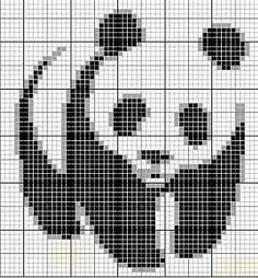 panda Point de croix panda