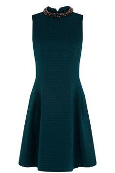 Embellished Lantern Dress