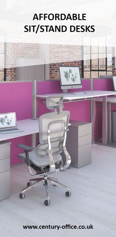 Our electric height adjustable desk helps keep you active at work or in the home office & Desk chairs donu0027t have to be ugly to be ergonomic or comfortable ...