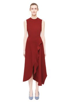 Asymmetric Ruffle Dress Simple Dresses, Fall Dresses, Pretty Dresses, Dresses For Work, Summer Dresses, Short Dresses, Fancy Gowns, Linen Dresses, Asymmetrical Dress