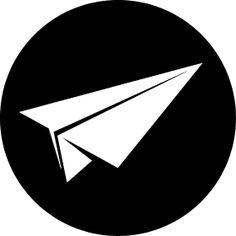 Papierflieger - Ein gefalteter Papierflieger aus ein Papierzettel.