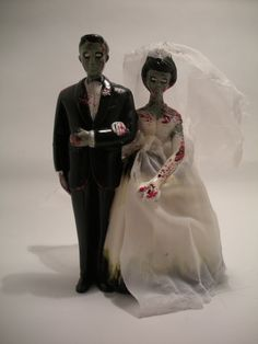 Zombie cake topper- hehe, this woulda been fun had we gone with the halloween wedding