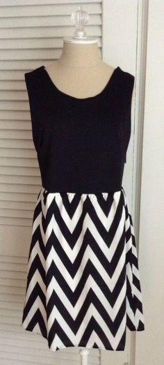 41Hawthorn Harriet Chevron Print Detail Dress - Love everything about this dress.