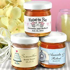 Mini #Personalizados tarros de miel para #Bodas