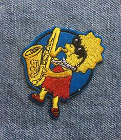 SAXOPHONE IRON ON PATCH