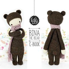 "Ravelry: ""BINA"" - lalylala crochet pattern N° I - Bear pattern by Lydia Tresselt"