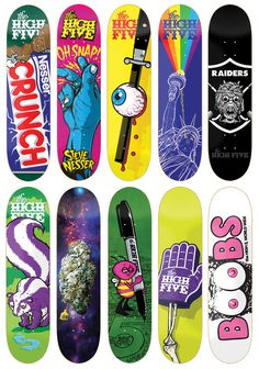 todd bratruds high five skateboards skateboard design - Skateboard Design Ideas